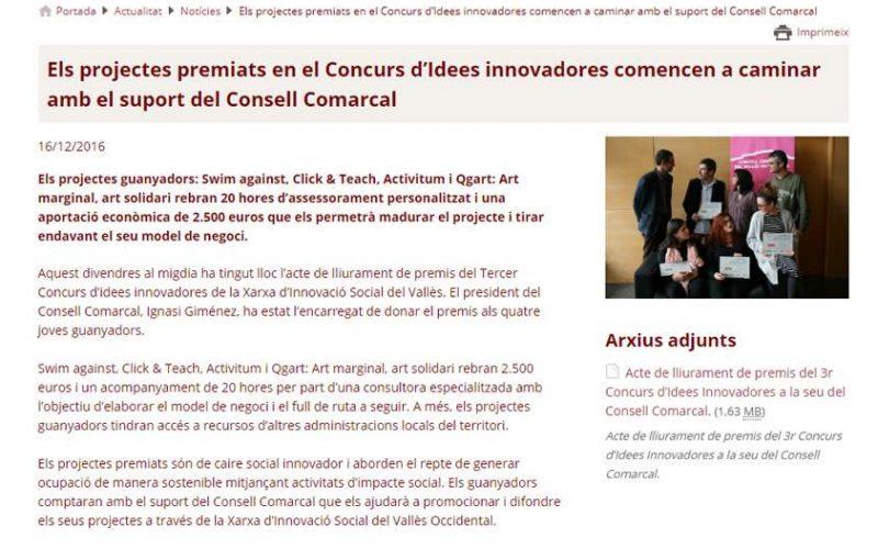 Ganadores del premio Ideas Innovadoras